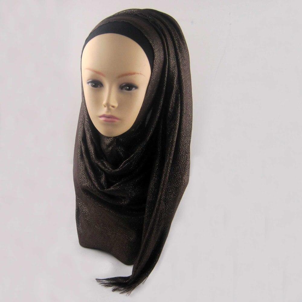 Мусульманский хиджаб мерцание шарф хиджабы блестящий шарфы мерцающий шаль, можете выбрать цвет - Цвет: color16