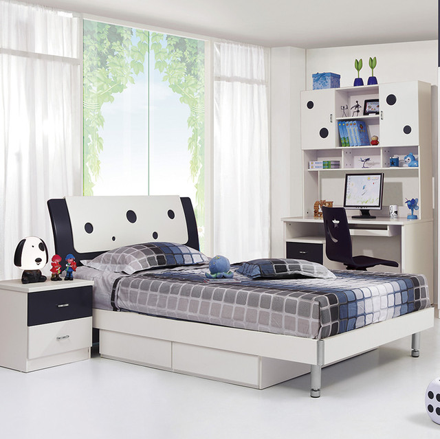 Children S Bed Boy Child Adolescent Bedroom Furniture Suite Desk Wardrobe Combination Suits A Family Of Four