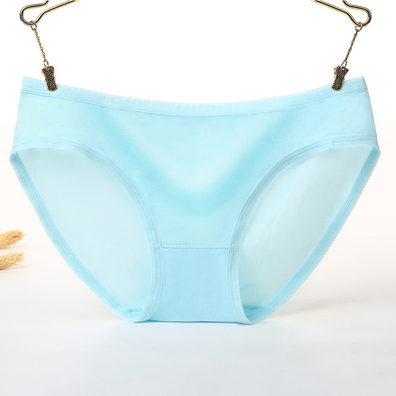 Buy QLuoYi Sexy Women Panties Seamless Female Breathable Ice Silk Low Waist Pink Underwear Panties Sexy Women Triangle Briefs 8.15