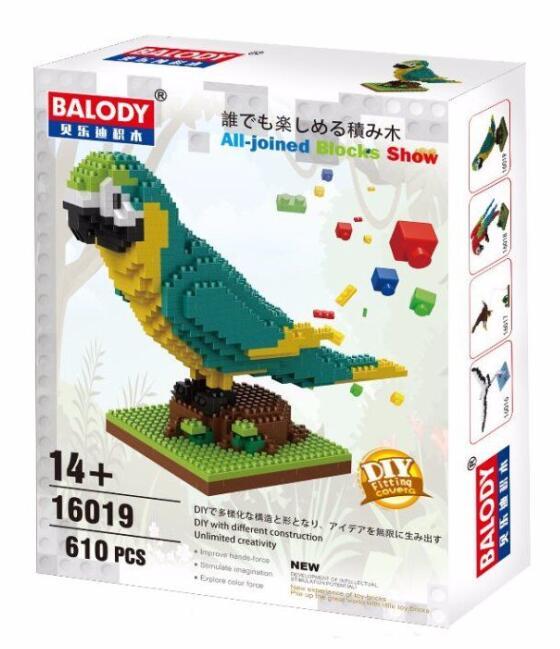 LOZ Animal 9547 Parrot Red Bird DIY Nano Block Micro Diamond Mini Building Toy