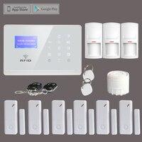 Лидер продаж 433 мГц сигнализации Беспроводной RFID touchkeypad GSM сигнализация Системы с RFID метки, Android IOS APP Дистанционное управление, бесплатная до