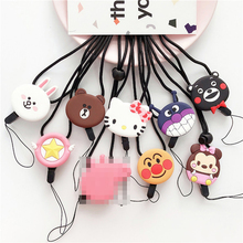 Cartoon Cute hello kitty popular Lanyard Neck Strap for keys ID Card Mobile Phone Straps for iphone 7 8 X Badge Holder Hang Rope phone lanyard cute cartoon neck strap lanyards for keys id card gym mobile phone straps usb badge holder diy hang rope lariat