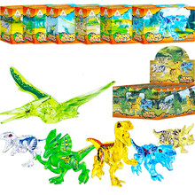 6pcs/set 3D Dinosaurs Jurassic World Figures Building Tyrannosaurus Assemble Blocks Sermoido Kids Toy