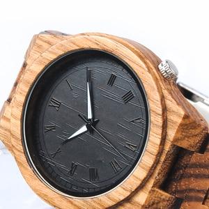 Image 3 - BOBO BIRD Zebra relojes de madera para hombre, de cuarzo, ligero, de madera, Vintage, analógico, de pulsera, indicadores luminosos