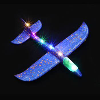 35cm DIY Kids Toys Hand Throw Flying Glider Planes Foam Aeroplane Model Glow In The Dark Flying Glider Plane Toys For Children