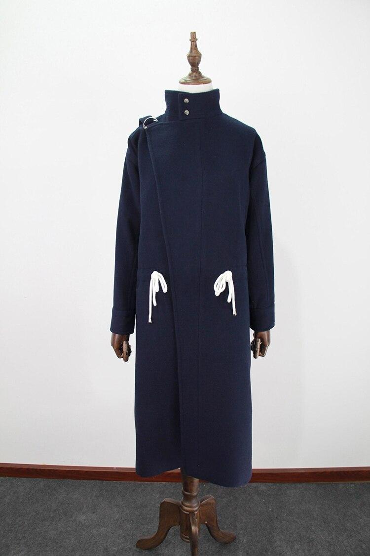Gris Automne regular Royaume Mujer Laine Du Double Chaud Femme Lining Simple 2018 Quilted Femmes Long uni Lining Classique Survêtement Hiver Warm Femelle Manteau Sein Abrigos Eqgp0q