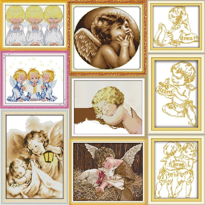 Joy Sunday Lovely Angel  Cross Stitch Pattern Kits Handcraft Make Embroidery With Chart