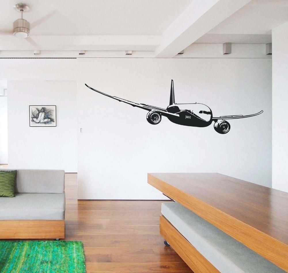 Livraison gratuite DIY Stickers Muraux En Gros et au détail Mur décor PVC matériau décalcomanies papier peint mural avion Aa-04
