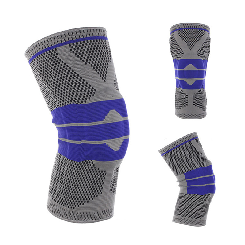 1 Pcs Fitness Running Knee Support Protect Gym Sport Braces Kneepad Elastic Nylon Silicon Padded Compression Knee Pad Sleeve