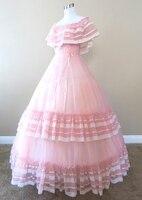 Розовое Шифоновое платье костюм в стиле «Ренессанс», атласное платье