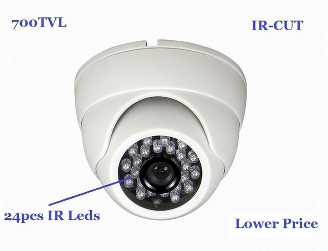 Free Shipping 1/4'' 700TVL IR Dome Camera With IR-CUT 20M Night Vision BWA7D