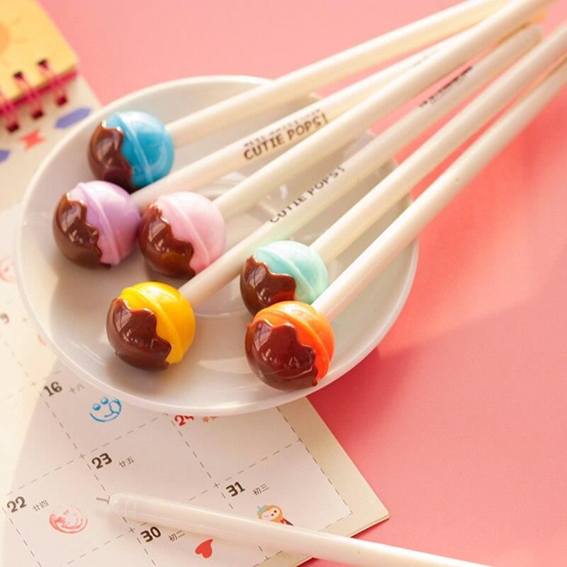 6pcs Cutie Pops Gel Kawaii Lollipop Ink Pens Zakka Gift Stats