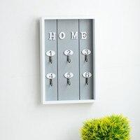 Home Wall Decor Handmade Wooden Key Hook Cargo Storage Box Multi Purpose Wall Coat Keys Bags
