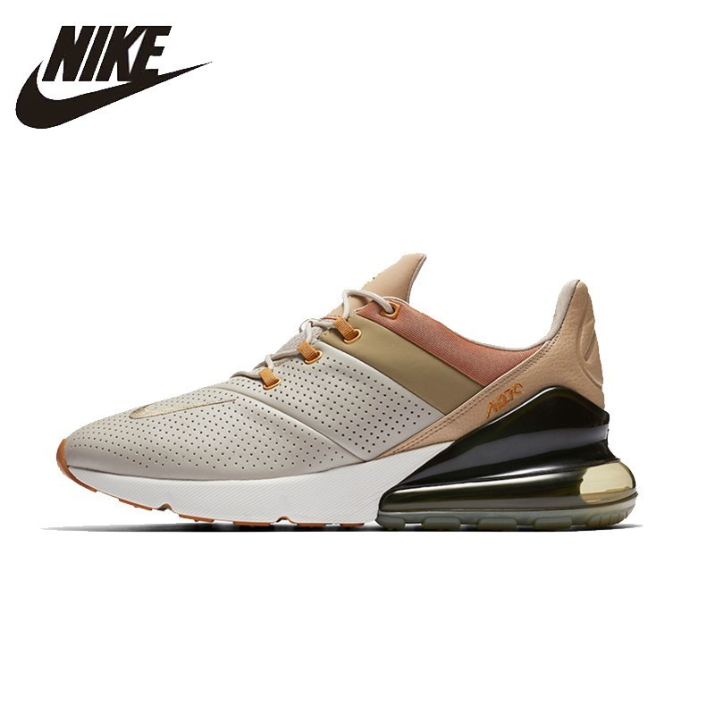 NIKE AIR MAX 270 PREMIUM Original Mens Running Shoes Breathable Stability Support Sports Sneakers For Men Shoes nike air max 270 men s running shoes black