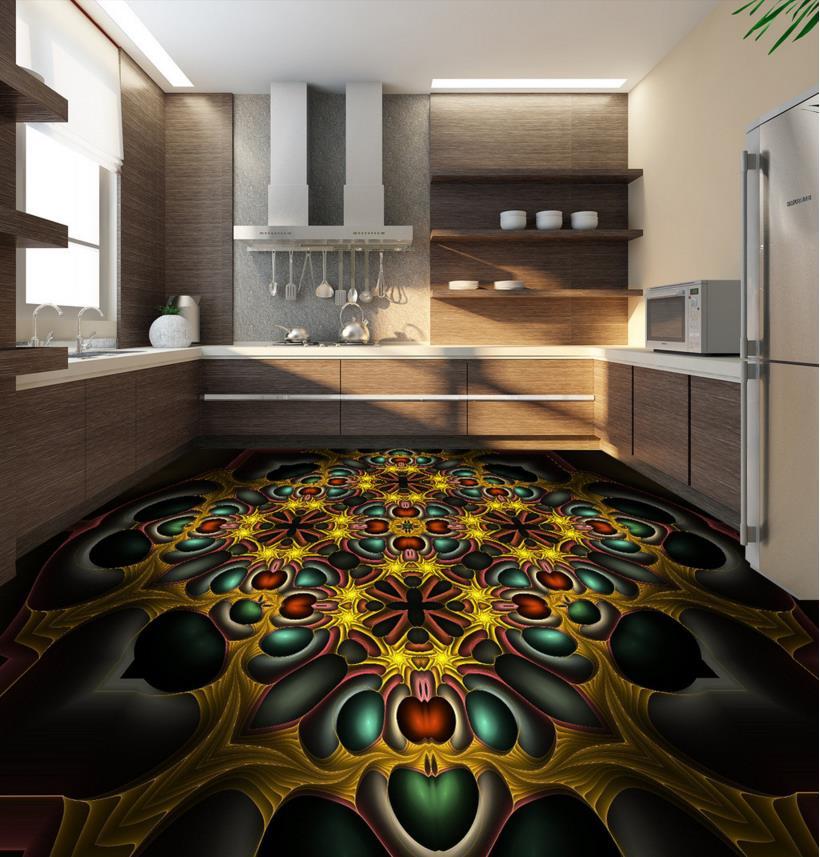 3d flooring Living Room PVC Self adhesive Waterproof Mural ...