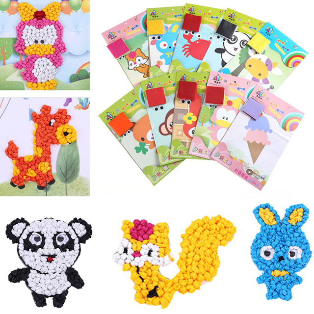 Aliexpress.com : Buy 1Pcs Baby Kids Crumpled Color Paper Painting ...