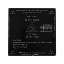 MK3 с подогревом 12 V 24 V черный Запчасти Heatbed Горячие очаг 3D Принтер часть тепла 214mmx214 мм, алюминиевая пластина 3 мм PCB аксессуары