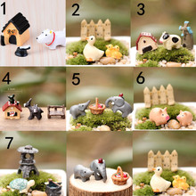 3PCS /Set Artificial Miniature Cute Animal Bench Donkey Set Model Toys Micro Landscape Ornaments Home Garden Decoration