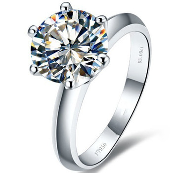 3Ct Round Cut Classic Engagement Ring for Women 925 Sterling Silver Ring Best Proposal Jewelry White Gold Color