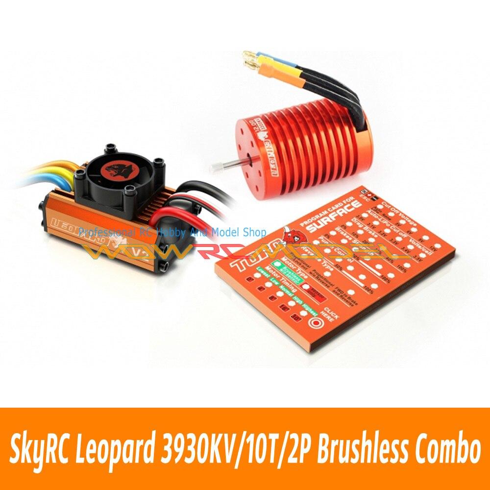 Skyrc Leopard 3930KV 10T 2P Brushless Motor 60A ESC Program Card Combo Set