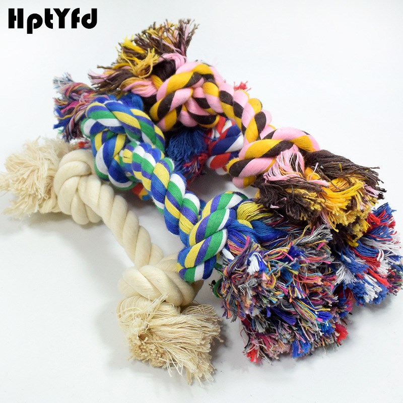 Knot Dog Toy Rope Pet Cotton Linen Chew Leker Bite Resistant For Large Dogs Tenn Trening Holdbar Rope Chew Interactive Leker