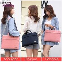 PU Leather women Laptop Bag Notebook Carrying Case Briefcase for Macbook Air 13.3 14 15.6 inch men Handbags shoulder Mouse Bag