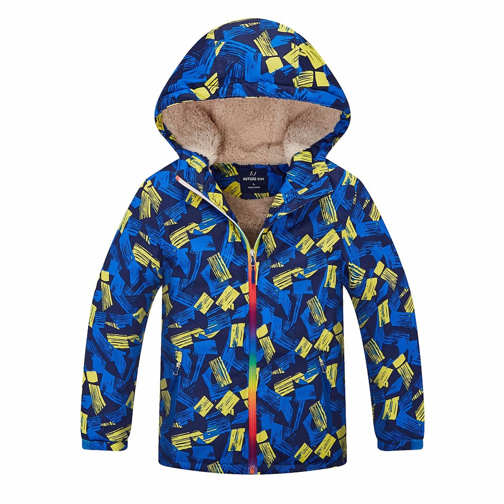2018 New Children Winter Clothing big school boy girl ski Waterproof hooded jacket coat winter autumn outdoor parkas clothes
