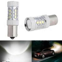 2PCS High Power 80W 1156 BA15S P21W LED Car Backup Reverse Signal Light Bulb HID Super