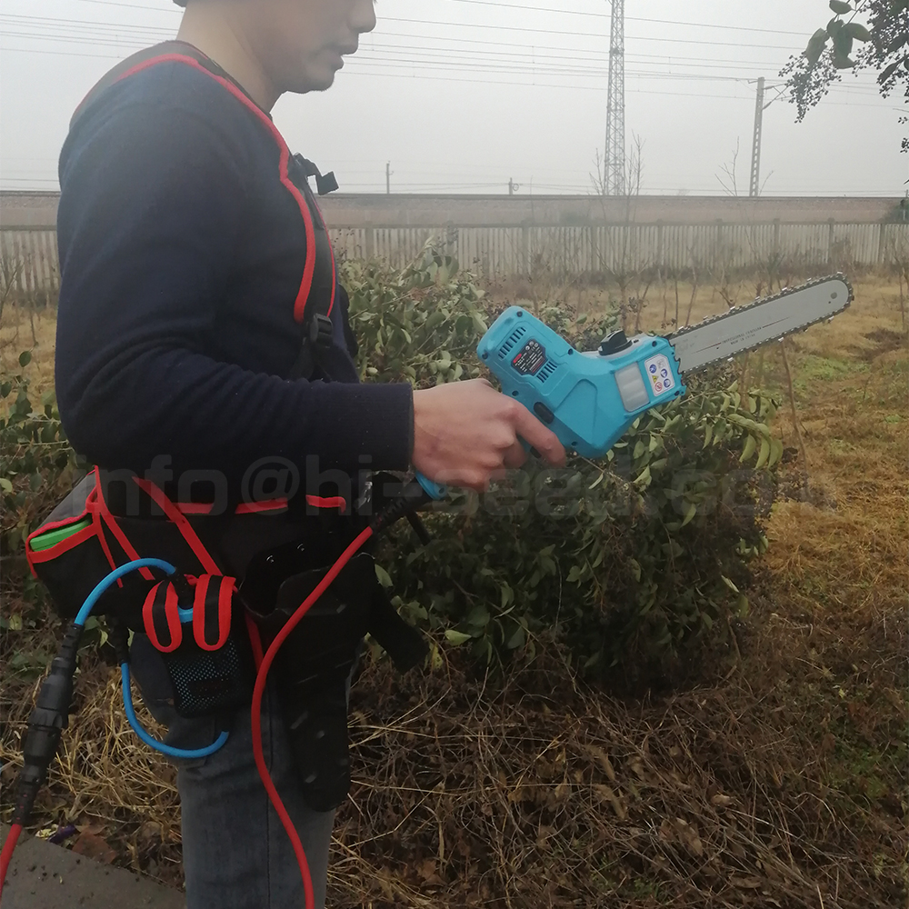 US $738 0 |40V single hand 48X 7 inch light electric hand saw more than 10  hours lasting (can order pruner together)-in Electric Saws from Tools on