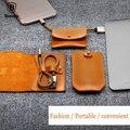 Bolsa de cuero de lujo de baseus diseño 8pin cable cargador rápido portable para iphone 5 6 7 Cable de Datos Cable USB 5 V 2A USB de Carga Rápida