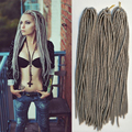 18inch 100g/pack 20roots Faux Locs Crochet Black Dreadlocks Hair Synthetic Crochet Braid Hair Havana Mambo Faux Locs Weaving