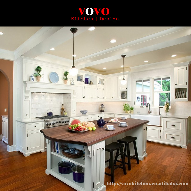 Solid Wood Kitchen Cabinet With A Breakfast Bar And Bar