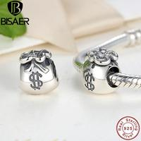 New Year Gift 925 Sterling Silver Small Beautiful Money Bags Charms Fit Pandora Bracelet Necklace Jewelry