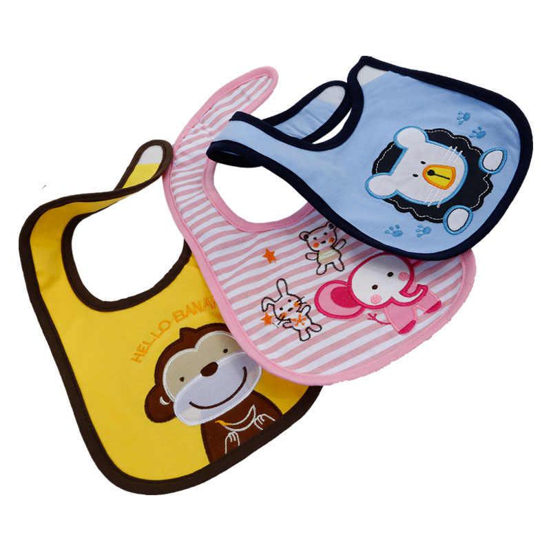 Baru Bayi Kapas Tahan Air Oto Anak Laki-laki Anak Perempuan Kartun Lucu Air Liur Handuk Makanan Bayi Memakai Anak-anak Balita Bandana Bersendawa Kain 5 buah