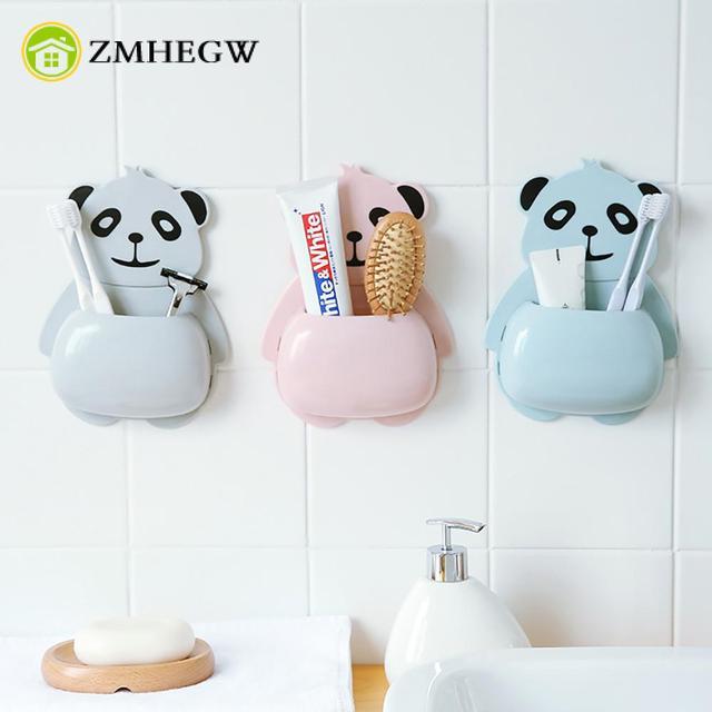 Panda uchwyt na szczoteczki do zębów ssania kubek do zębów pasta do zębów wieszak na ręczniki łazienka akcesoria pasty do zębów banheiro uchwyt na szczoteczkę do zębów