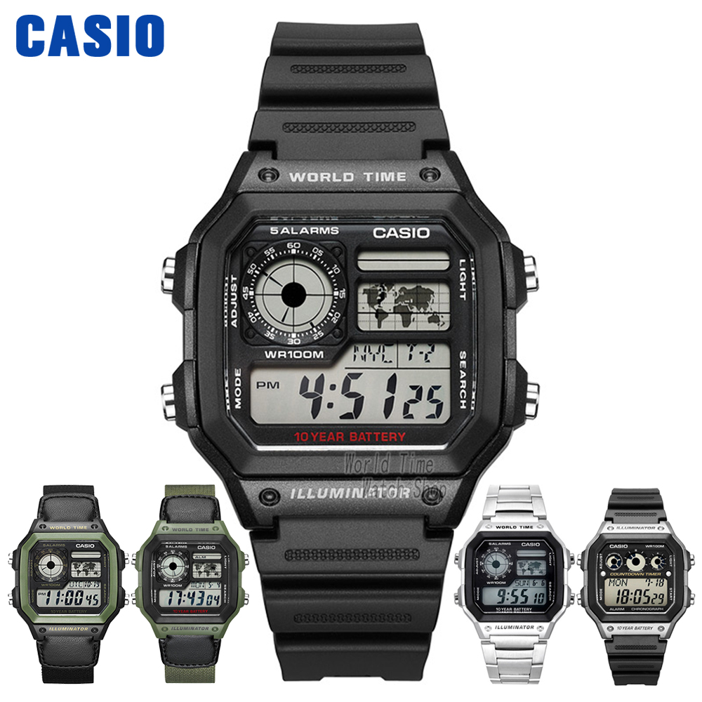CASIO Часы Водонепроницаемый для активного отдыха и развлечений Для мужчин смотреть ae-1200wh-1 ae-1200whd-1a ae-1200whb-1bae-1300wh-1a ae-1300wh-4a