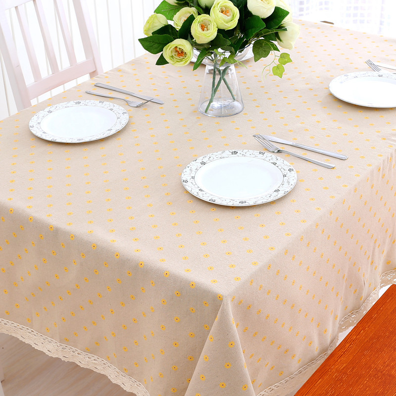 Hot Sale New Daisy Table Cloth Simple Style Table Cover Coffee Party Table  Cloth Hotel Restaurant