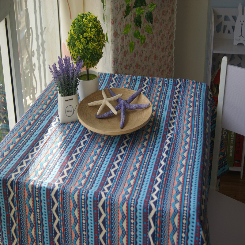 Pastoral Bohemian Style Tablecloth Home Desk Chair Decorations Dining Tea Table Cloth for Hotel Dining Cotton