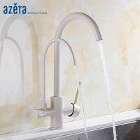 Azeta 3 Way кран кухня краны одно отверстие на бортике воды очистки функция 360 градусов Поворотный Кухня Раковина AT2188P