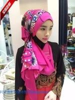 2015 the latest autumn Muslim silk scarf digital printing headscarves 100 shipping