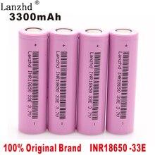 4PCS  2018 100% New Original brand 18650 3300mah Lithium 3.7V INR18650 33E Rechargeable Battery For Flashlight batteries