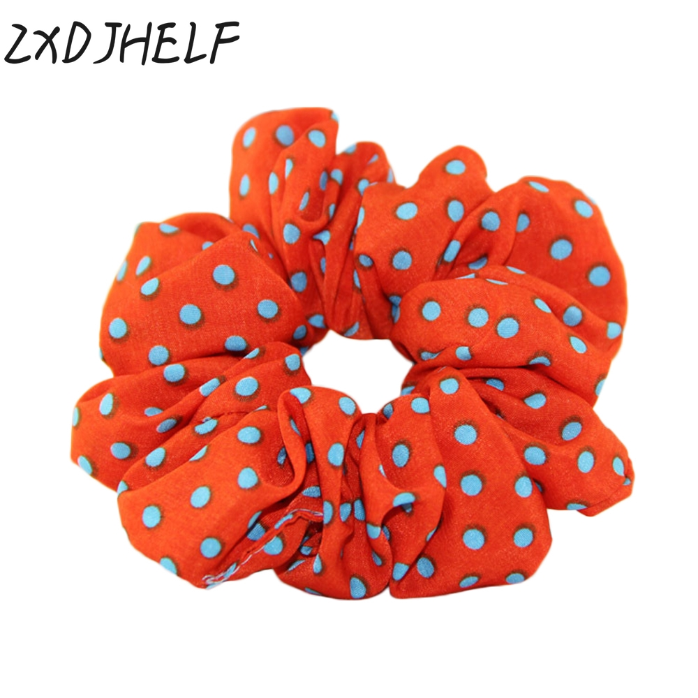 Apparel Accessories Zxdjhelf Sweet Polka Dot Hair Ring Female Hair Accessories Chiffon Scrunchies Elastic Hair Bands For Women Girl Rubber Band F050 Ample Supply And Prompt Delivery
