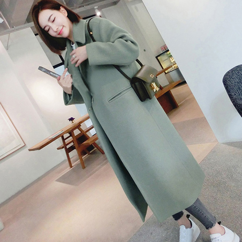 Winter Woman Jacket Coat Female  Long Thick Double-Faced Woolen Windbreaker Women Thin Overcoat Cashmere Coats Femme Mujer