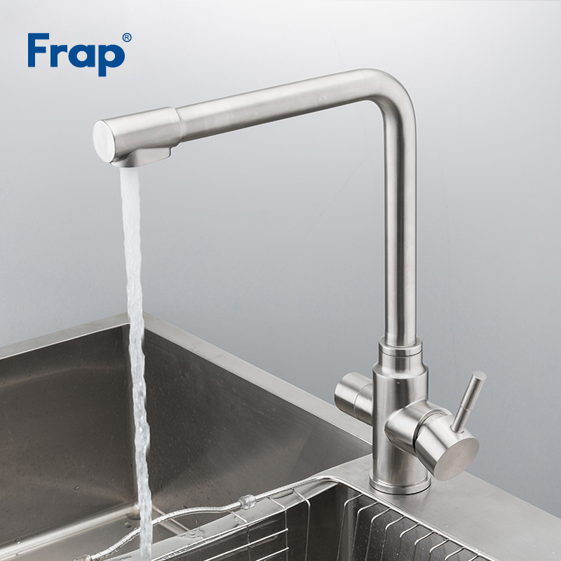 Frap Kitchen Faucets Waterfilter Taps Stainless Steel Mixer Drinking Water Filter Faucet Kitchen Sink Tap Water Tap Y40036