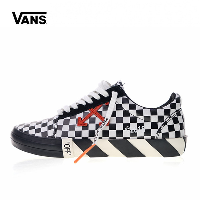 Original Vans Low Classic men s Skateboarding Shoes Men s White c o Virgil  Abloh Vulc Low 83e10c8c5432