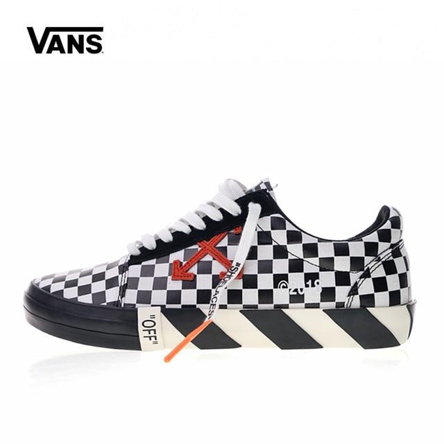 28fa4414757c Original Vans Low Classic men s Skateboarding Shoes Men s White c o Virgil  Abloh Vulc Low