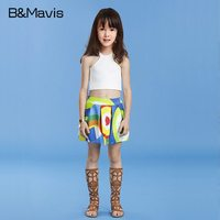 2Pieces Girls Clothing Sets Fashion Children Tops Skirt 2017 New Summer Kids Clothes Top Quality Teenage