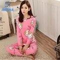 2016 Primavera Outono fina conjuntos de pijama Caráter Animal pijamas dos desenhos animados pijamas conjuntos de pijama salão sono Frete grátis