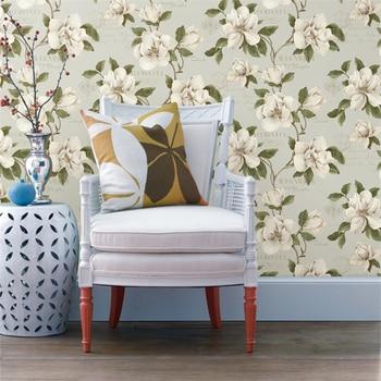 Beibehang 3d wallpaper High-grade pure roll American pastoral 3 d TV setting wallpaper bedroom living room flower 3d wallpaper