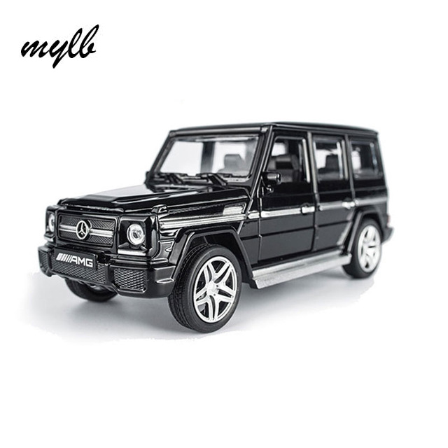 mylb AMG G65 Diecast Metal Car Toys 1:32 Scale Pull Back Simulation Alloy Cars Acousto-optic Auto Model Collection Cars Oyuncak rambo lp 750 toy alloy car models 1 32 simulation children acousto optic car model